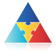 Pyramid with Inward Arrows
