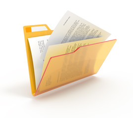 Folder with a documents.