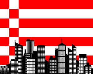 City und Fahne von Bremen