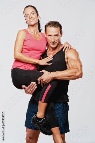 Beautiful athletic couple