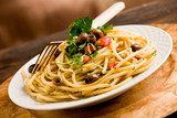 Fototapeta Pasta con le Olive
