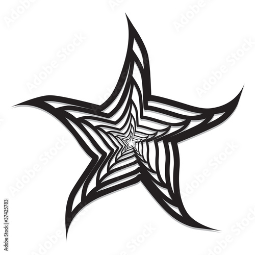 Fdstract starfish black & white vector