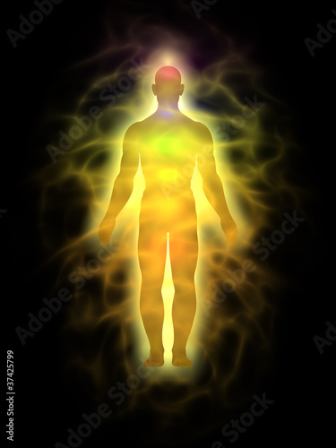 Man - energy body - aura
