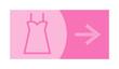 signe, symbole, picto, logo, flèche, pressing, boutique