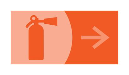 signe, symbole, picto, logo, flèche, extincteur, sécurité