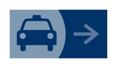 signe, symbole, picto, logo, flèche, taxi, station de taxis