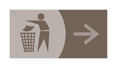 signe, symbole, picto, logo, flèche, poubelle, tri, déchet