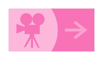 signe, symbole, picto, logo, flèche, cinéma, TV, caméra