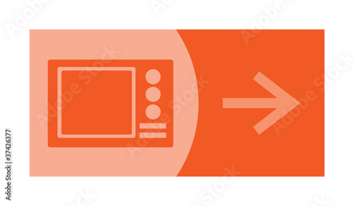 signe symbole picto logo fl che cuisson four micro onde fichier vectoriel libre de. Black Bedroom Furniture Sets. Home Design Ideas