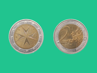Euro coin from Malta