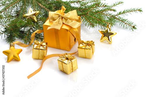 Papiers peints Table preparee gold Christmas