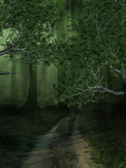 Fantasy Forest Background