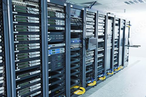 Leinwandbild Motiv network server room
