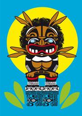 totem tribal sculpture dieu croyance