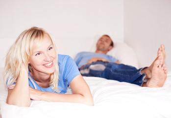 couple ine bed