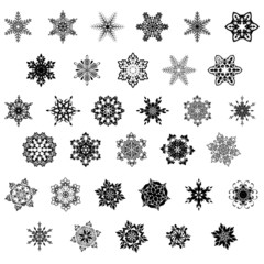 Set of snowflake, vector