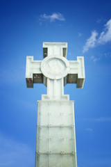 Cross in the sky, monument in Tallinn, Estonia