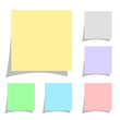 Stickers set vector illustration