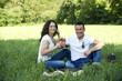 Junges Paar beim Picknick