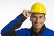Bauarbeiter mit Kopfschutz