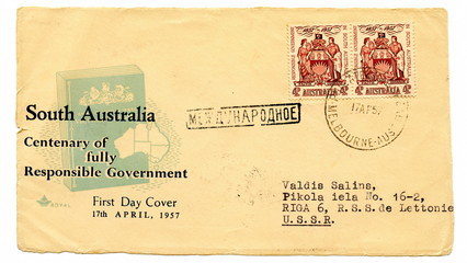 "Vintage australian first day cover ""South Australia"""