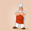 Potrait of a Chef Clip Art