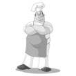 Monochrome Chef Illustration