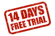 Grunge Stempel rot 14 DAYS FREE TRIAL
