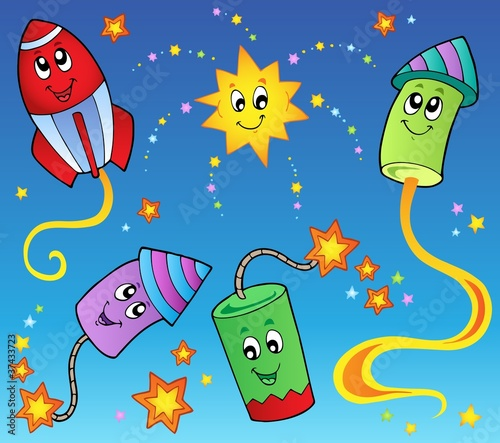 Cartoon fireworks theme 2