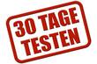 Stempel rot rel 30 TAGE TESTEN