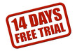 Stempel rot rel 14 DAYS FREE TRIAL