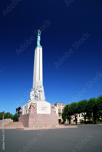 The monument of freedom in Riga. Latvia