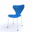 3D Designer Stuhl blau silber