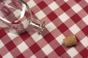 Botella de cristal vacía