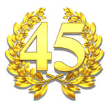 45 fourtyfive number laurel wreath