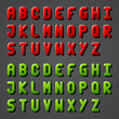 vector shiny font alphabet
