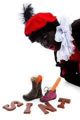 Sinterklaas, typical Dutch event with zwarte piet