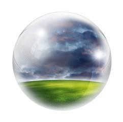 landscape in bubble