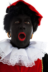 Portrait of surprised Zwarte piet ( black pete)