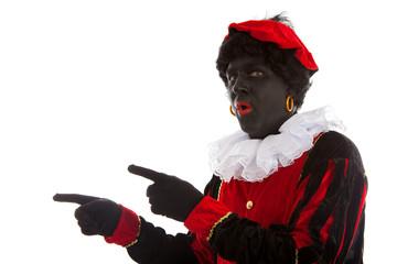 surprised Zwarte piet ( black pete) typical Dutch characte