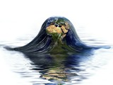 Planet Earth melting_Global warming