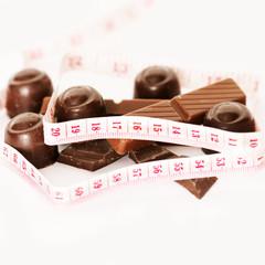 Schokolade und Maßband