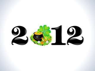abstract st patrick based new year text template