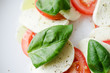Tomato, basil and mozarella
