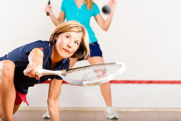 Squash als Sport im Fitnessstudio
