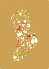 Christmas stocking silhouette