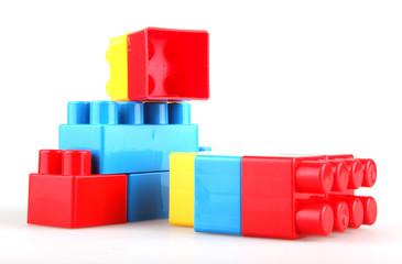 Plastic toy blocks