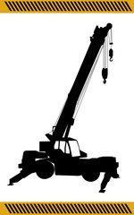 Crane  construction machinery equipment isolated