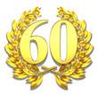 60 sixty number laurel wreath