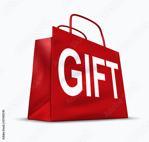 Gift red shopping bag
